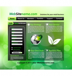 Eco site vector