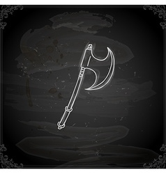 Hand drawn axe vector