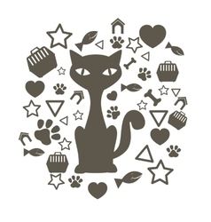 Cute pet cartoon vector image