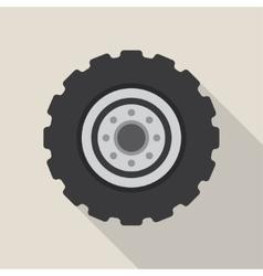 Transport car wheel drive service vector