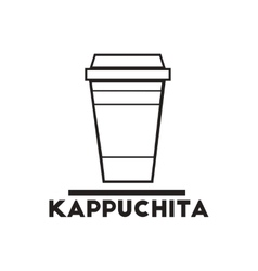 Black icon on white background kappuchita vector