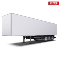 Blank white parked semi trailer vector