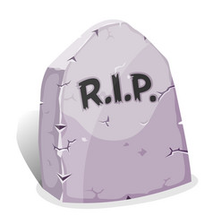 Cartoon tombstone with rip vector