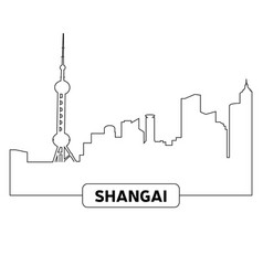 cityscape of shanghai vector image vector image