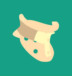 clamp for the neck vector image vector image