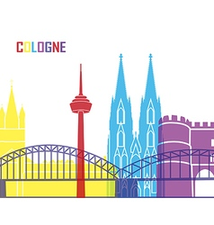Cologne skyline pop vector image vector image