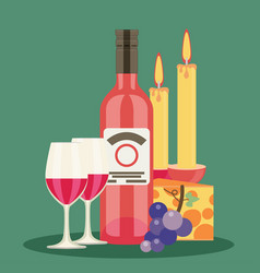 Colored flat design wine vector