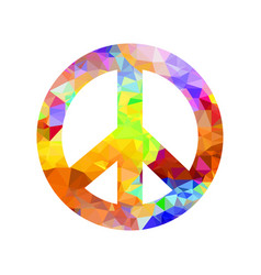 colored pacifist sign vector image