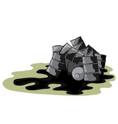 dangerous leak for the environment vector image vector image
