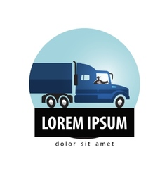 Delivery logo design template truck or vector