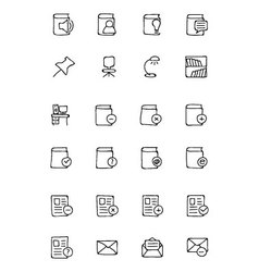 Education hand drawn doodle icons 7 vector