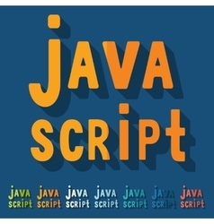 Flat design java script vector