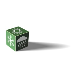 Green weather cube vector image vector image
