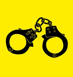 handcuffs vector image
