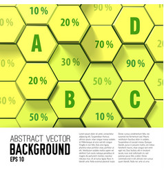 Honeycomb geometric business infographics vector