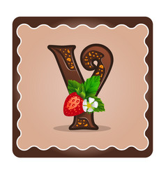 Letter y candies chocolate vector