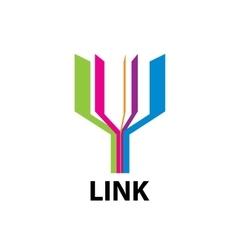 logo link vector image vector image