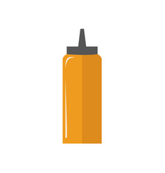 Mustard bottle simple flat vector