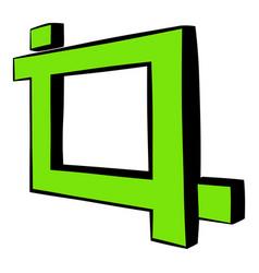 photo frame icon cartoon vector image