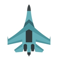 Quick military aircraft icon flat style vector