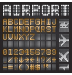 Set of letters on a mechanical timetable airport vector