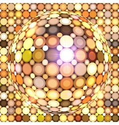 Shining golden disco ball vector image