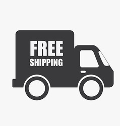 shipping design vector image