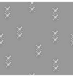 Spiral gray seamless pattern vector image vector image