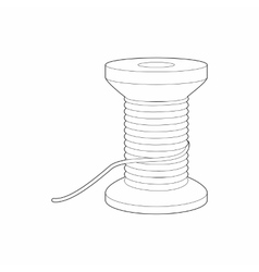 Spool of thread icon outline style vector