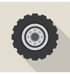 Transport car wheel drive service vector