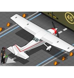 White plane vector image