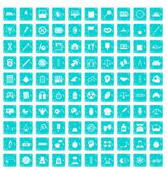 100 libra icons set grunge blue vector