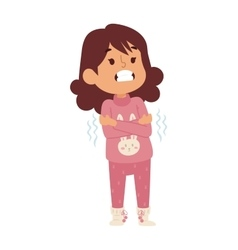 Sick children vector