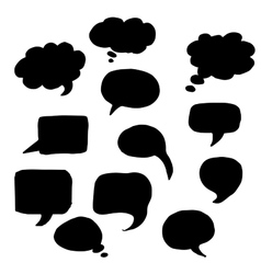 Message or chat icon or bubble vector