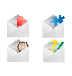 Signs in envelope vector image