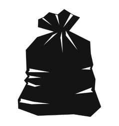 Garbage bag icon simple style vector