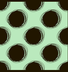 Seamless doodle pattern round hand drawings vector