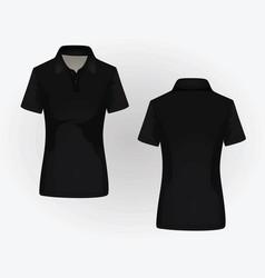 women polo shirt vector image