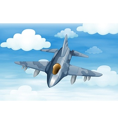 A military aircraft in the sky vector
