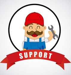 Support design vector