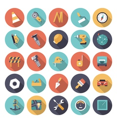 Icons flat colors industrial vector