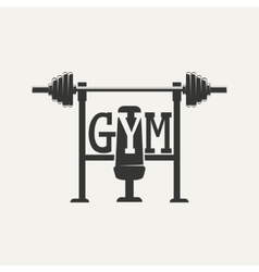 Barbell logo vector