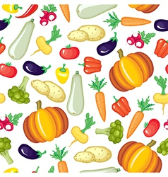 vegetable color pattern vector image