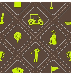 Seamless background with golf icons vector