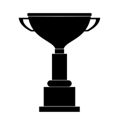 Goblet black simple icon vector