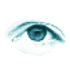 Blue color human digital eye vector image