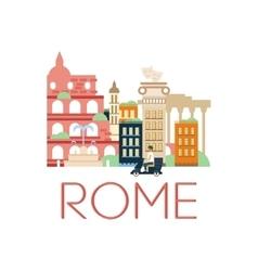 Rome classic toristic scenery vector