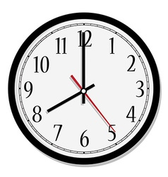 Classic wall clock vector