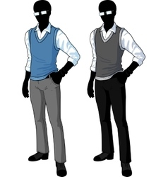 Silhouette student in casual formal wear vector