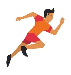 Person running quickly vector